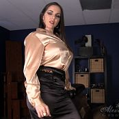 Goddess Alexandra Snow Satin Weakness 211116 wmv