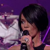 Rihanna Shut Up And Drive Live At Letterman Sexy Black Leather Dress 211116 vob