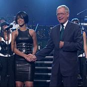 Rihanna Shut Up And Drive Live Letterman Black Leather Dress HD Video