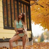 Ariel Rebel Playing In Leaves 002