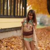 Ariel Rebel Playing In Leaves 004