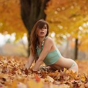 Ariel Rebel Playing In Leaves Part 3 001