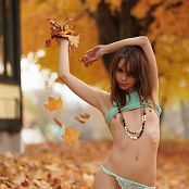Ariel Rebel Playing In Leaves Part 3 004