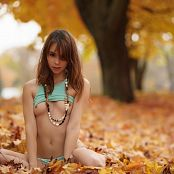 Ariel Rebel Playing In Leaves Part 3 005