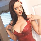 Emily Marilyn Lovely In Red Latex HD Video