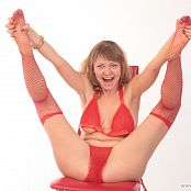 Fiona Model Red Lingerie Picture Set 194