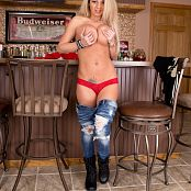 Nikki Sims Shredded Jeans 004