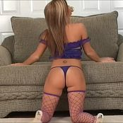 Halee Model Purple Lace Nighty Dance Tease Video