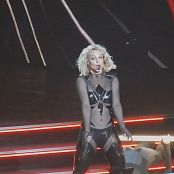 Britney Spears POM Sexy Black Latex Catsuit 2015 HD Video