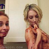 Ashley Graham and Sarah Peachez Chocolate Syrup Lesbians HD Video 080517 mp4