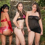 Daniela Florez, Thaliana Bermudez & Angie Narango Triple Time Bonus LVL 1 TBF Picture Set 048