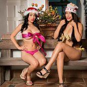 Pamela Martinez Luciana Model and Natalia Marin All Wrapped Up For Christmas Bonus LVL 2 TBF Set 064 0496