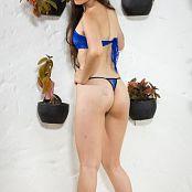 Angie Narango Short Blue Skirt Bonus LVL 2 TBF Picture Set 031
