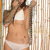 Chiquita Model White Lingerie Picture Set