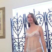 FloridaTeenModels Elizabeth White See Through Dress Video