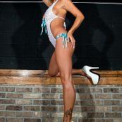 Nikki Sims White Lingerie 0324