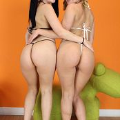 Teenikini Abby Cross and Karly Baker Black and White String Set 019 008