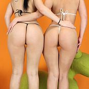 Teenikini Abby Cross and Karly Baker Black and White String Set 019 009