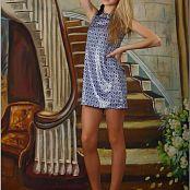 TeenModelingTV Anastasia Blue and White Dress 0824