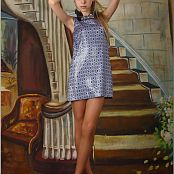 TeenModelingTV Anastasia Blue and White Dress 0827