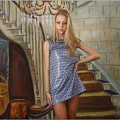 TeenModelingTV Anastasia Blue and White Dress 0964