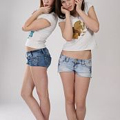 Silver Jewels Sage and Amber Denim Shorts Set 1 0857