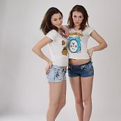 Silver Jewels Sage and Amber Denim Shorts Set 1 0914