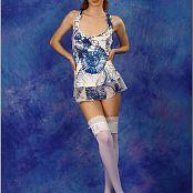 TeenModelingTV Marina Blue and White 0361