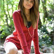 TeenModelingTV Samantha Red Sweater Picture Set