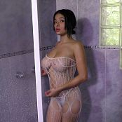 Pamela Martinez White Net Outfit In Shower TM4B Bonus LVL 6 HD Video
