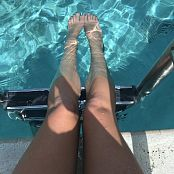 Kalee Carroll OnlyFans Twas a good day at the pool my polish matched the water 2