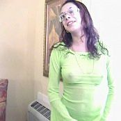 FloridaTeenModels Alazai Green Mesh See Thru Outfit Video