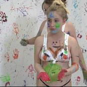 FloridaTeenModels Elizabeth, Heather & Alexis Paint Splatter Video