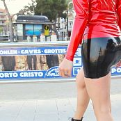 Lara Larsen Sightseeing In Latex HD Video