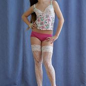 Silver Jewels Sarah White Stockings Set 4 2123