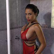 Luciana Model Sheer Red Lingerie TM4B HD Video 009