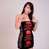 NewCityTeens Star Black Red Skull Dress 498