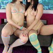 Teenikini Kylie Quinn and Violet Starr Invisible Bikinis Set 034 mp4 565