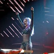 Britney Spears Pink Hair & Glittering Catsuit Live 2014 HD Video