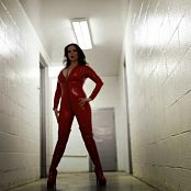 Goddess Alexandra Snow Red Catsuit Photoshoot 201117 mp4