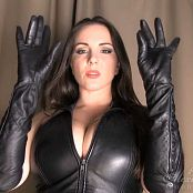 Goddess Alexandra Snow Leather Glove Test HD Video