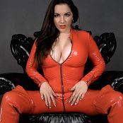 Goddess Alexandra Snow Red Latex Catsuit JOI 031217 mp4