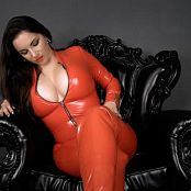 Goddess Alexandra Snow Red Latex Catsuit JOI 031217 mp4