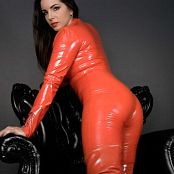 Goddess Alexandra Snow Red Latex Catsuit JOI HD Video