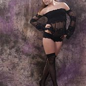 Silver Jewels Sarah Black Stockings Set 3 1537