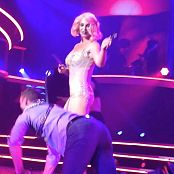 Britney Spears Freakshow Pink Hair & Golden Dress HD Video
