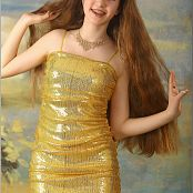 TeenModelingTV Lena Gold Dress 1325