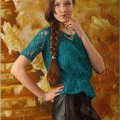 TeenModelingTV Lena Turquoise Top 1764