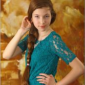 TeenModelingTV Lena Turquoise Top 1884