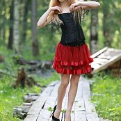 Silver Jewels Alice Red Skirt Set 5 0273